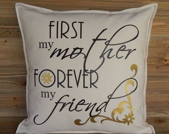 Mother's Day Pillow Cover 16x16, Decorative Pillow, Gifts for Mom, Throw Pillow