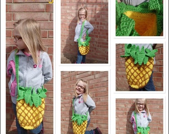 Pineapple crochet purse bag *Ready to ship*