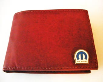 Mopar/Chrysler Corporation Brown Calfskin Men's Bifold Wallet