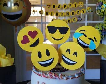 Emoji cake toppers