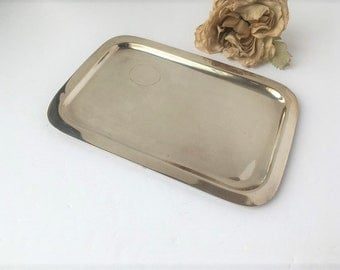 Vintage square Simple Silver Tray / Silver Tray / Vanity Tray / Silver Vanity Tray / Vintage Silver Tray / Vintage Tray / Square Tray