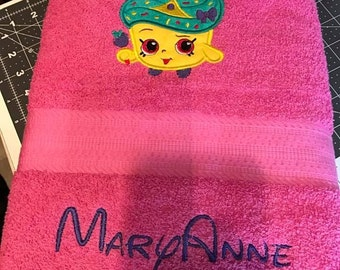 Personalized Shopkins Towel