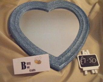 Glittered Heart Mirror