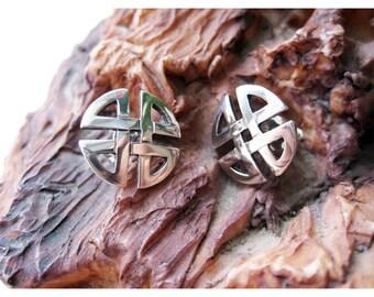 Celtic earrings, Celtic silver earrings, celtic knot earrings, Sterling silver earrings, silver earrings, vintage earrings, celtic knot