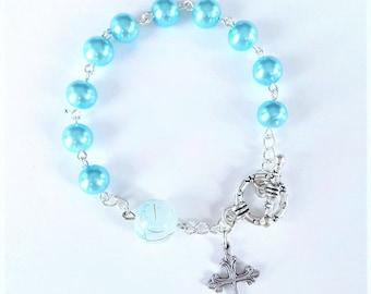 Aqua Rosary Bracelet