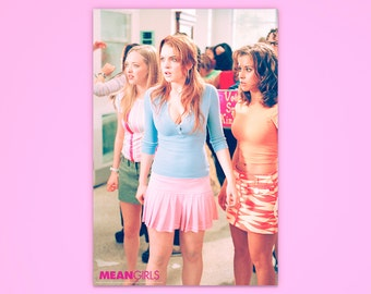 """Mean Girls Poster, """"Jungle Madness"""", Mean Girls, Lindsay Lohan, Officially Licensed, Movie Poster"""