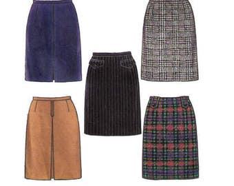 New Look 6675 Sewing Pattern, Size 6-16 Women's Fitted Skirt, Straight Skirt Back Slit High Waisted Skirt Women's Basics