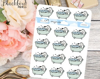 Dog Wash - Hand Drawn Planner Stickers [FR0022]