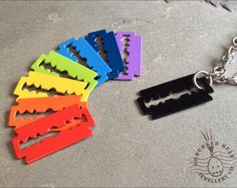 Coloured Razor Blade Necklace