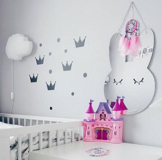 chambre de bebe lapin miroir acrylique d coration murale. Black Bedroom Furniture Sets. Home Design Ideas