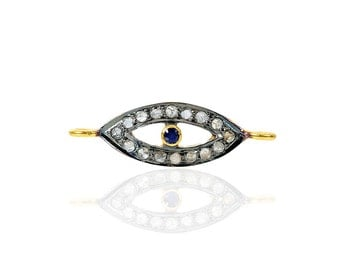 SDC-1195 - Eye Blu.Sapphire -Pave diamond charm