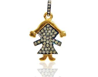 SDC-1710 Girl Pave Diamond Charm