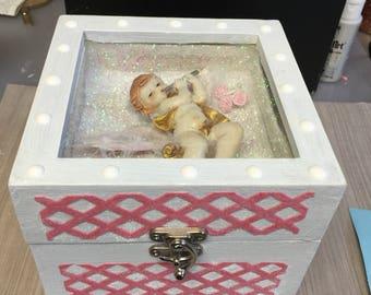 lovely keep sake mixed media angel box