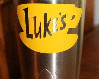"""Gilmore Girls Luke's Diner Die Cut Decal! Mug Yeti Tumbler Decal, 3.5"""" wide, Ships Free!"""