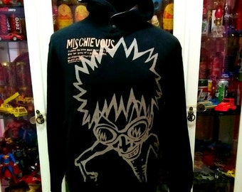 Mischievous Skunk Anime Cartoon Hoodie Pullover Sweater