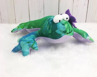 Stuffed Frog; Made to Order; stuffed animal, frog stuffed animal, stuffed toad, plushy frog, decorative frog, stuffed animal frog, toy toad