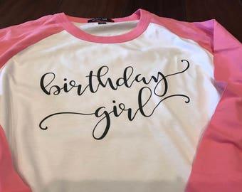 Birthday Raglan Sleeve T-Shirts
