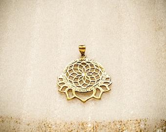 SALE -20 % Lotus Anhänger, Mandala, Blume des Lebens, lotus pendant, flower of life