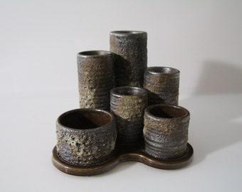 Amazing candle holder Jopeko - Paris -  West German Pottery - Fat Lava WGP