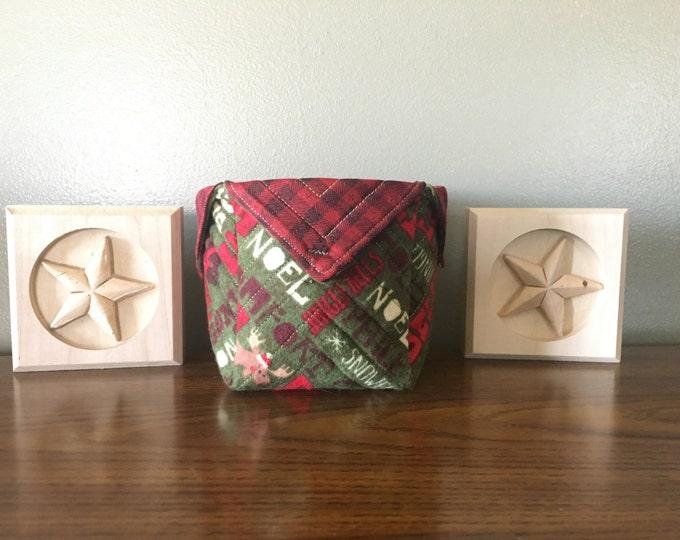 Christmas Fabric Boxes, organization, decor