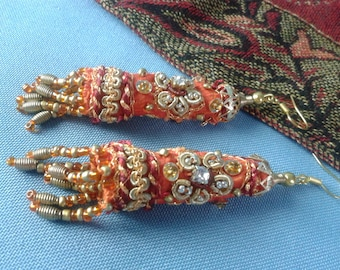"Earrings ""Tangerine of India"""