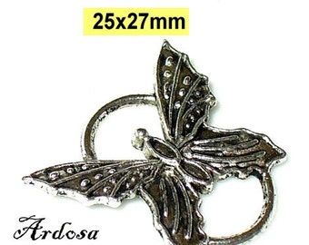 1 trailer connector, butterfly silver 25x27mm (K6. 25)