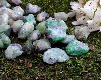 2 Tsavorite garnet green garnet gemstone natural tsavorite raw garnet healing crystal natural Crystal raw