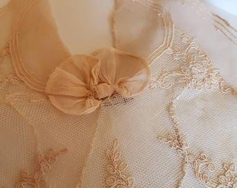 Antique 1900s Handmade Lace Jabot