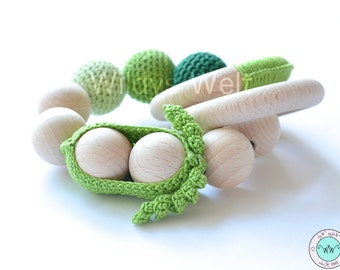 """Toy made of natural wood """"Pea"""""""