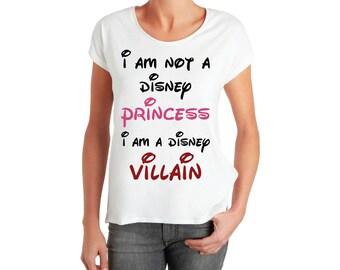I am not, a princess, I am a DISNEY, Villain, SVG, Cricut Files, Silhouette Files, Cameo, Vector, T-shirt,Iron On