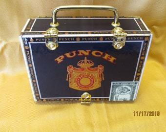 Punch Dark Blue Cigar Box Purse SPECIAL EDITION