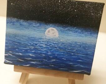 Full moon Night ocean
