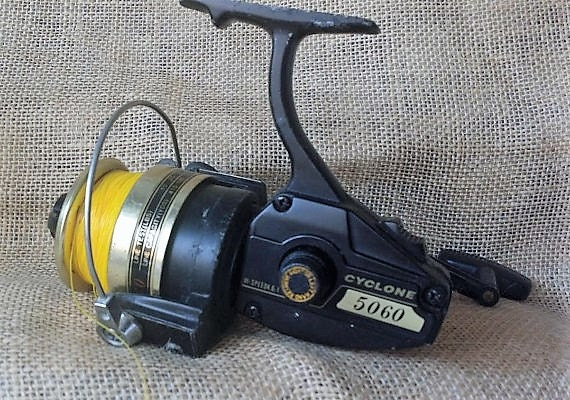 Gone fishing cyclone open face fishing reel vintage cyclone for Open reel fishing pole