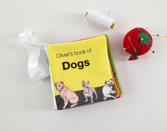 Busy book of dogs | Montessori baby book, baby busy book, montessori toys, sensory toys, opposites, baby soft books