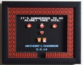 "CUSTOMIZABLE Link & Zelda Shadow Box - ""Take This!"" 3D Video Game Shadow Box with Glass Frame (Great Wedding or Anniversary Gift!)"