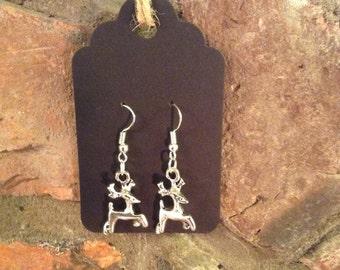 Tibetan Silver Reindeer Earings