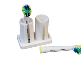 Oral-B Tooth Brush Head Holder by Artifex Design for Most Orabl B Tooth Brush Heads