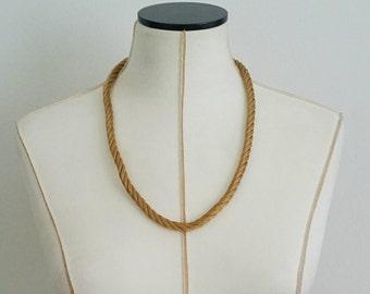 Vintage Trifari Crown, Gold Mesh Necklace