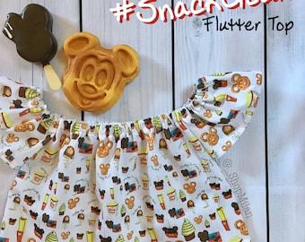 Disney Snacks Flutter Top