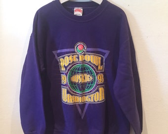 1993 Rosebowl Purple Sweatshirt Washington Huskies XL