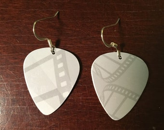 Film Guitar Pick Earrings