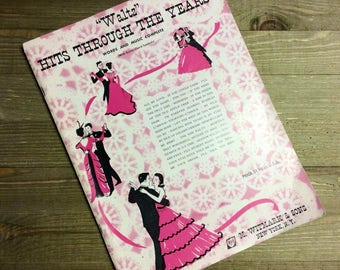 Waltz Music - Sheet Music - Waltz Hits Through the Years - 1953 Music - M. Witmark & Sons - Waltz - Wedding Music