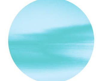 Blue circle. Abstract photography. Digital download.