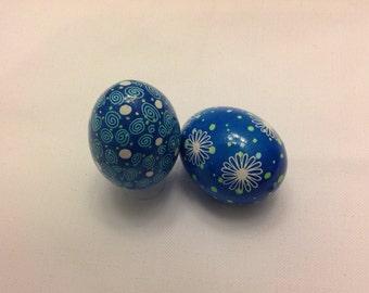 Ukrainian eggs~non traditional~Pysanky~handmade~collectible~art