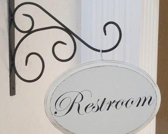 Restroom Sign   Restroom Door Sign   Bath Sign   Bathroom Wall Decor   Toilet  Sign