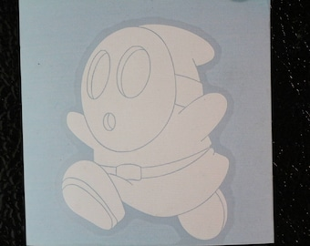 Shy Guy Running Away Mario Old School Decal Any Size Any Colors
