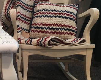 Americana Throw and Matching Pillow