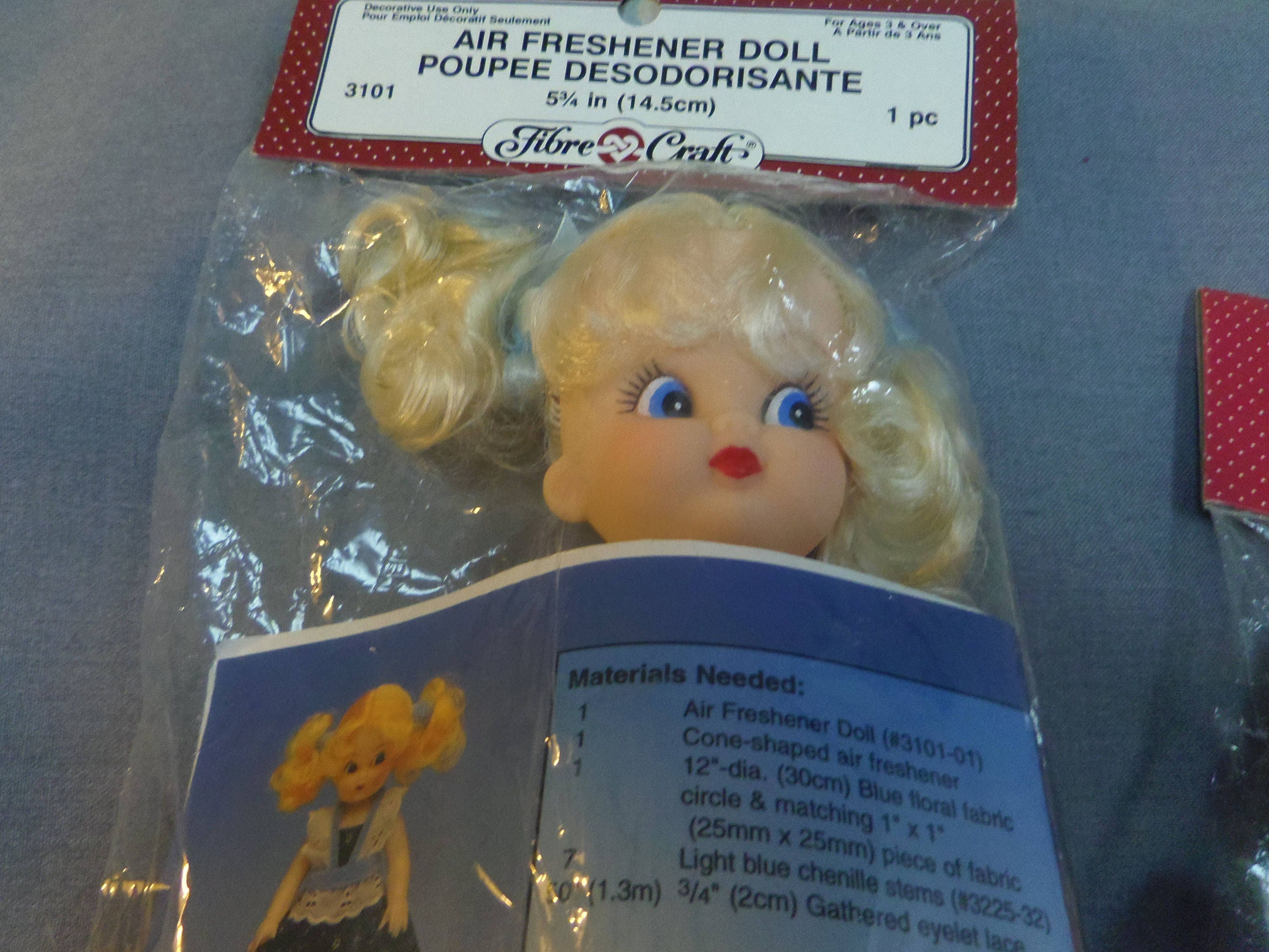 Fibre craft air freshener dolls -  15 00