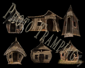 Whimsical Forest Cabins