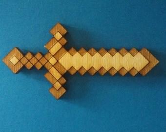 Minecraft Sword neckerchief slide